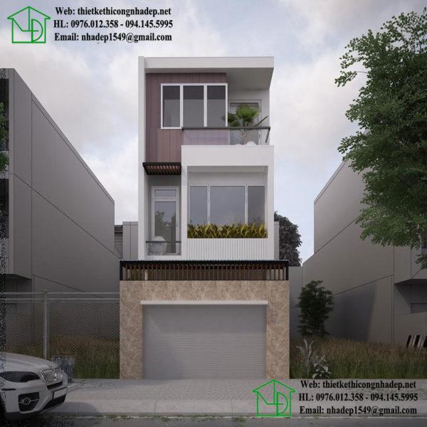 Nhà phố lệch tầng đẹp NDNP3T9