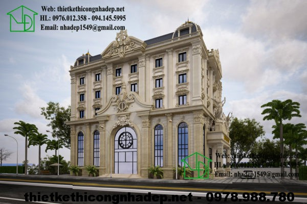 Thiết kế khách sạn cổ điển, mẫu khách sạn đẹp tại Hạ Long NDTKKS1