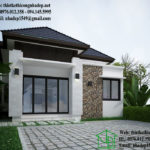 Thiết kế nhà cấp 4 đẹp mái thái, nhà cấp 4 7x13m NDNC429