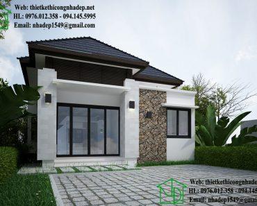 Thiết kế nhà cấp 4 mái thái NDNC429