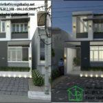 Thiết kế nhà phố 2 tầng, mẫu nhà phố 2 tầng 5x15m NDNP2T2