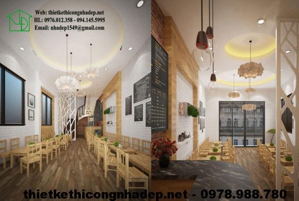 Thiết kế quán cafe tại Hà Nội NDCF5