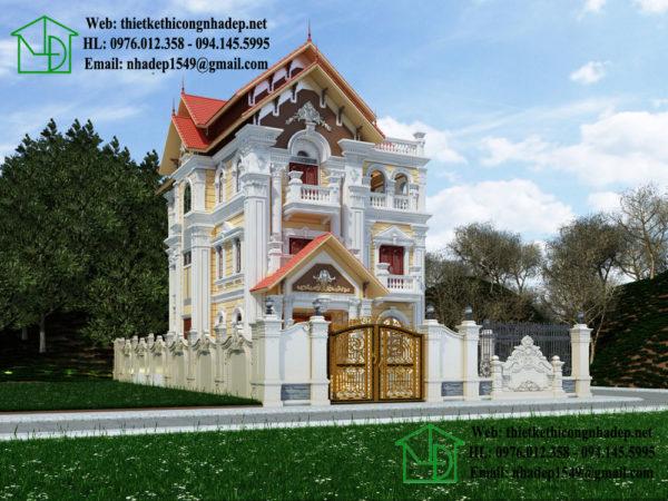 Biệt thự cổ điển 3 tầng NDBTCDP5