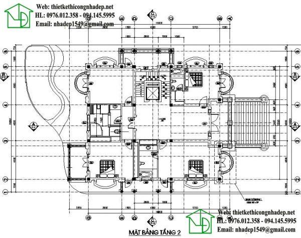 Mặt bằng nội thất điển hình lâu đài cổ điển NDBTCDP7