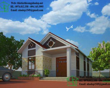 Nhà đẹp cấp 4 nông thôn NDNC430