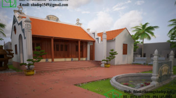 Thiết kế mẫu nhà thờ họ đơn giản tại Quảng Bình NDNTH10