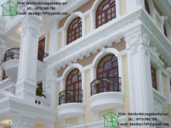Chi tiết vòm cửa sổ biệt thự cổ điển NDBTCDP8