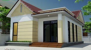 Mẫu nhà cấp 4 7x9m, mẫu thiết kế nhà cấp 4 mái thái đẹp NDNC435