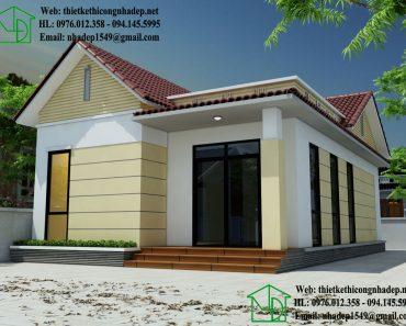 Mẫu thiết kế nhà cấp 4 mái thái đẹp NDNC435