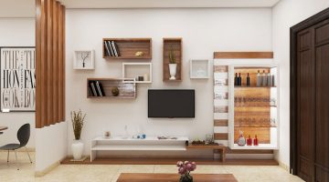 Thiết kế nội thất phòng khách, nội thất phòng bếp tại Điện Biên NDNTPK3