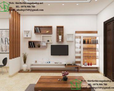 Thiết kế nội thất phòng khách hiện đại NDNTPK3