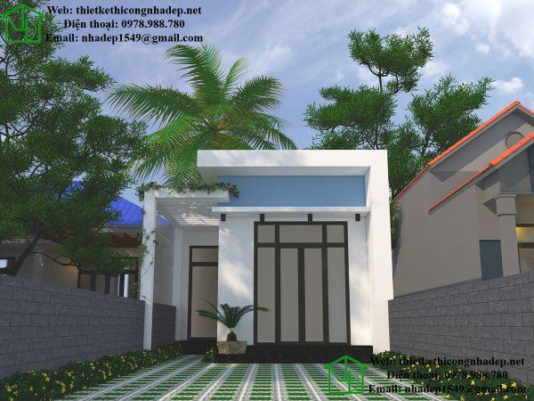 Mẫu nhà mái tôn đẹp NDNC440