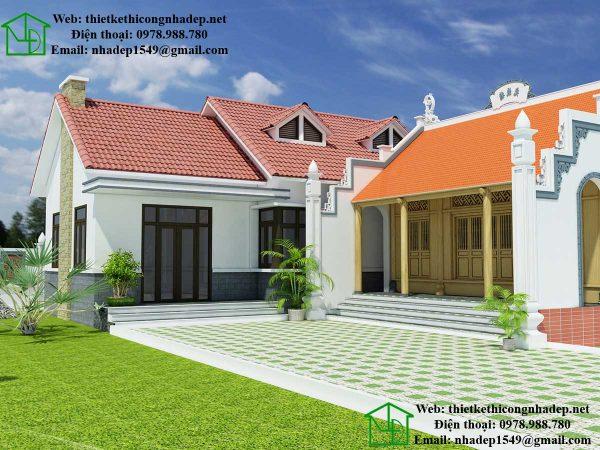 Nhà mái thái đẹp NDNC438