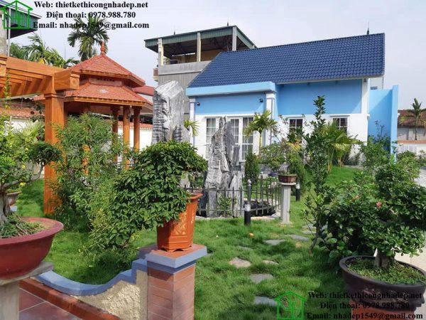 Phối cảnh mặt tiền biệt thự vườn NDBT1T25
