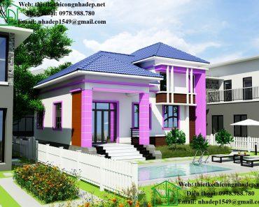 Thiết kế nhà có gác lửng đẹp NDBT1T26