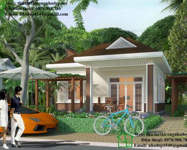 Thiết kế nhà mái thái 1 tầng NDBT1T28