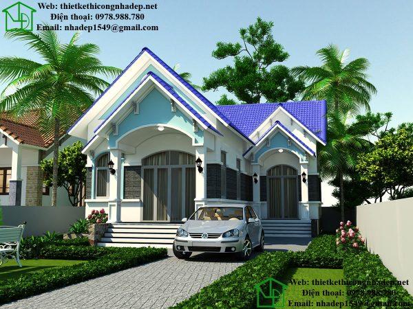 Biệt thự nhà vườn 1 tầng đẹp NDBT1T29