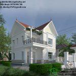 Mẫu nhà 2 tầng mái thái đẹp, mẫu nhà đẹp 2 tầng mái thái NDBT2T30