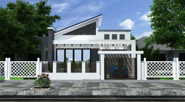 Biệt thự 1 tầng hiện đại, thiết kế nhà biệt thự 1 tầng NDBT1T34