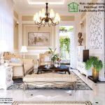 Thiết kế nội thất biệt thự tân cổ điển Tasco Xuân Phương NDNTBT1