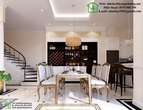 Thiết kế nội thất tân cổ điển NDNTBT1