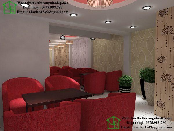 Thiết kế quán cafe diện tích nhỏ NDCF6