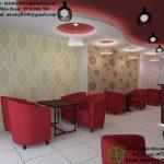 Thiết kế quán cafe đơn giản, thiết kế nội thất quán cafe NDCF6