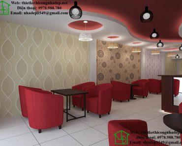 Thiết kế quán cafe đơn giản NDCF6
