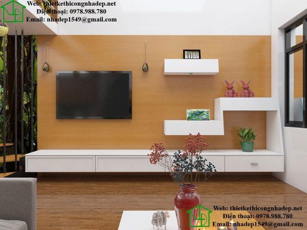 Kệ tivi phòng khách nhà gác lửng NDNC447