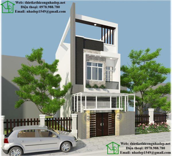 Mẫu nhà phố đẹp 3 tầng NDNP3T13