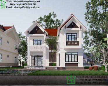Mẫu thiết kế nhà 2 tầng mái thái NDMN2T6