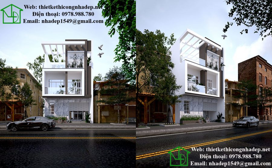 Mẫu thiết kế nhà 3 tầng đẹp, mẫu nhà ống đẹp 3 tầng NDNP3T12