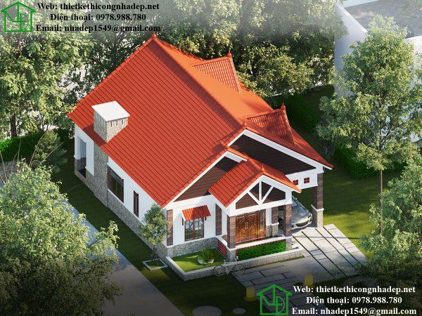 Nhà vườn mái thái đẹp NDBT1T36