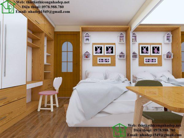 Bố trí căn hộ 15m2 đầy đủ tiện nghi cho gia đình NDNTCC8