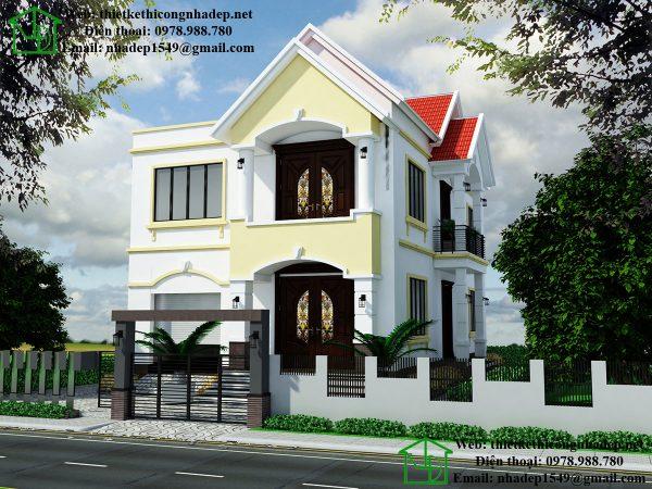 Thiết kế nhà 2 tầng mái thái NDMN2T7