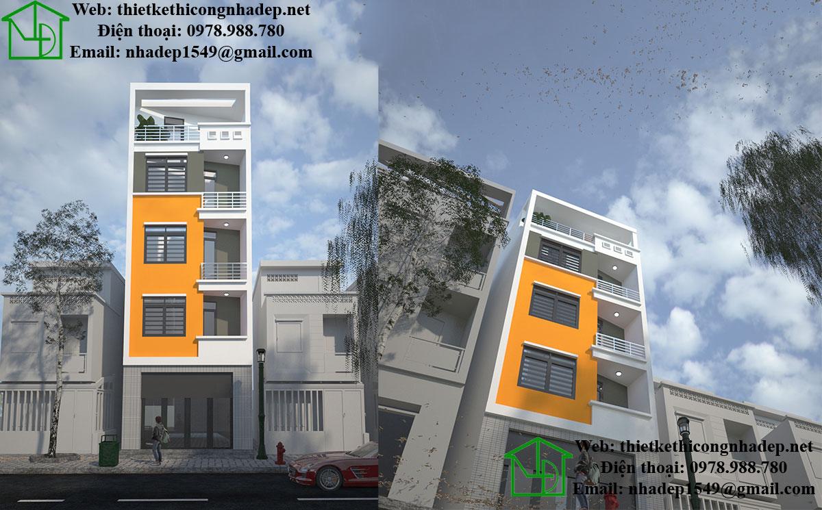 Thiết kế nhà trên đất méo NDNP5T2