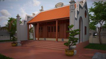 Thiết kế từ đường họ, nhà thờ từ đường tại Thái Thụy Thái Bình NDNTH13