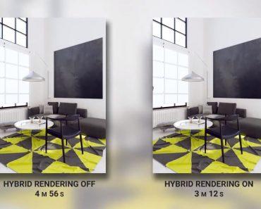 Tính năng Hybrid Rendering trong vray 3.6