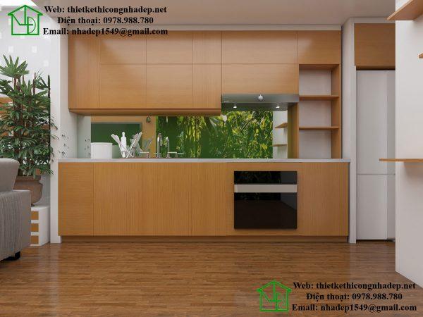 Tủ bếp đẹp nhà cấp 4 gác lửng NDNC447