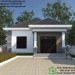 Mẫu nhà cấp 4 mái thái, thiết kế nhà cấp 4 đơn giản Vân Đình Hà Nội NDNC449