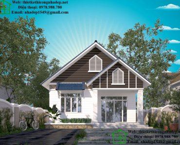 Mẫu nhà đẹp nông thôn NDNC450