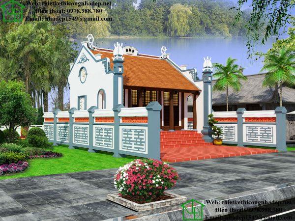 Mẫu thiết kế nhà thờ họ diện tích nhỏ NDNTH15