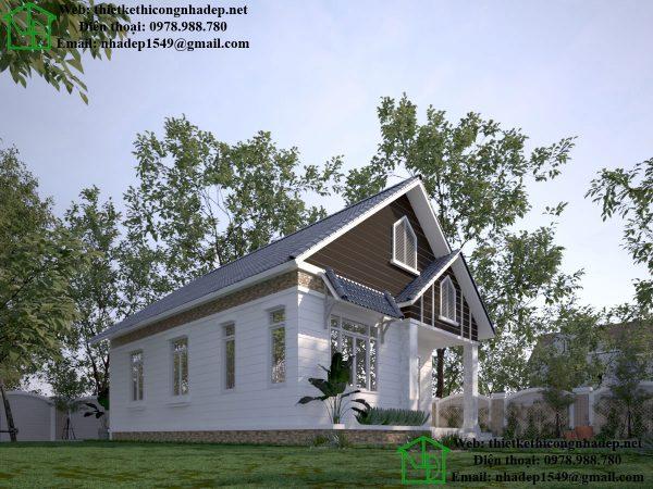 Nhà đẹp 1 tầng ở nông thôn NDNC450