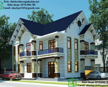 Nhà đẹp 2 tầng mái thái NDBT2T33