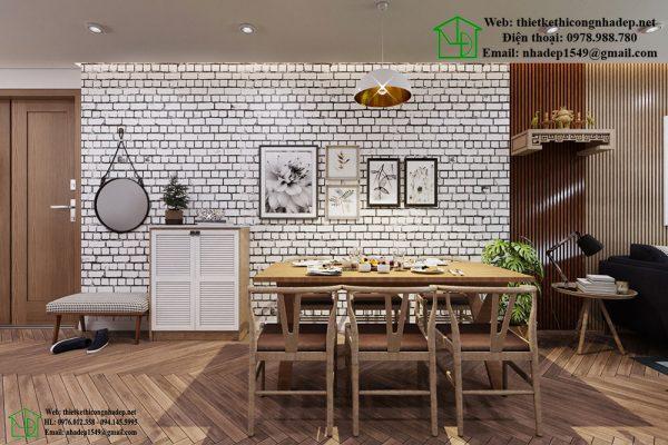 Thiết kế và thi công nội thất chung cư phòng ăn tinh tế NDNTCC10