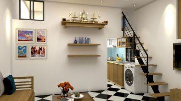 Thiết kế nội thất căn hộ tập thể, cải tạo nội thất nhà tập thể NDNTCC9