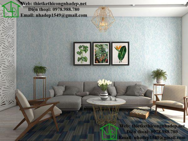 Sofa phòng khách nhà phố 2 tầng NDNP2T3