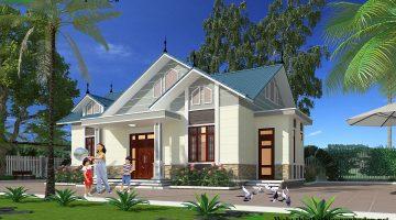 Thiết kế nhà 1 tầng 3 phòng ngủ tại Mộc Châu NDBT1T40