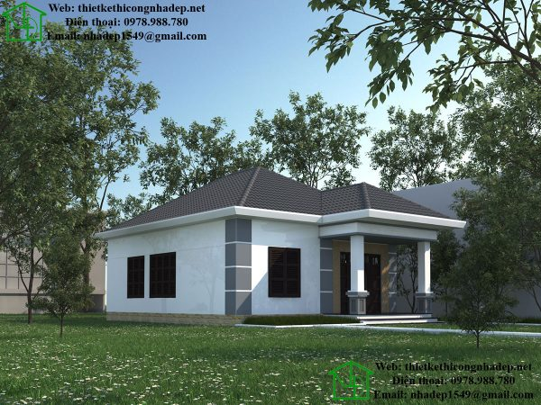Thiết kế nhà cấp 4 đơn giản NDNC449