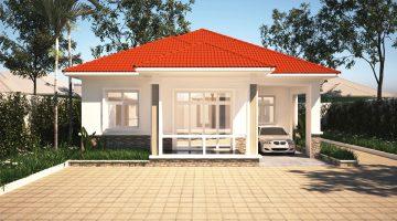 Thiết kế nhà vườn đẹp, biệt thự vườn đẹp mái thái NDBT1T37